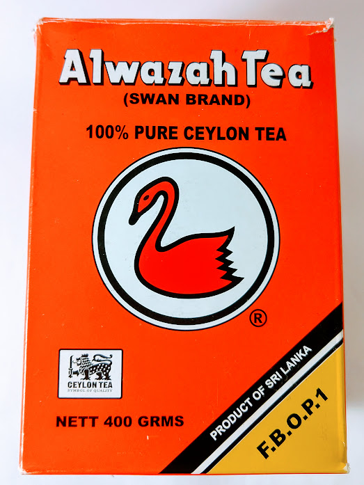 Photo of Alwazah tea box back